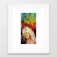 artrave Framed Art Prints featuring #ArtRAVE by Indolent Ink