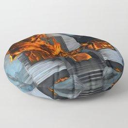 House on Fire Floor Pillow