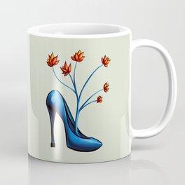 High Heel Shoe With Flowers Surreal Art Coffee Mug