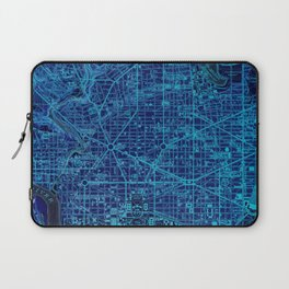 Washington West Columbia year 1945 old blue map Laptop Sleeve
