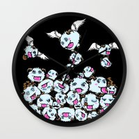 league of legends Wall Clocks featuring League of Legends : POROS  by AngeltwoZion
