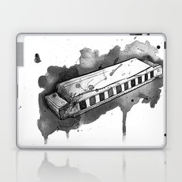 Watercolor Harmonica (Gray Scale) Laptop & iPad Skin