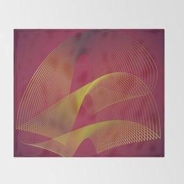 """Gold power"" minimal modern art Throw Blanket"