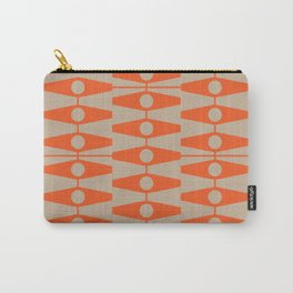 abstract eyes pattern orange tan Carry-All Pouch