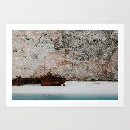 Navagio beach / shipwreck beach | Colourful Travel Photography | Zakynthos, Greece (Zante) Art Print