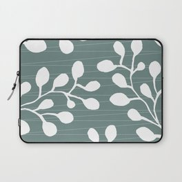 Greenery Leaves on Jade Laptop Sleeve