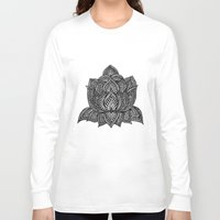 lotus Long Sleeve T-shirts featuring Lotus by Luna Portnoi