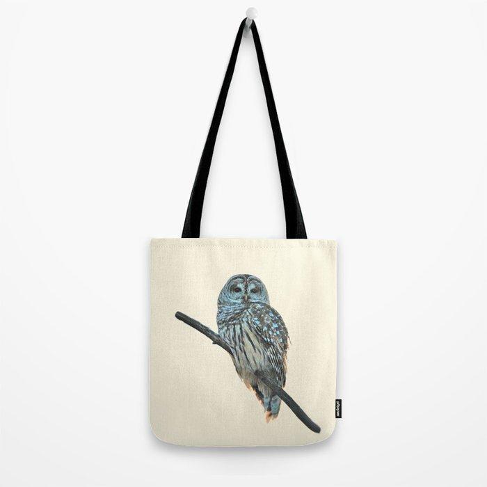Barred Owl (beige) Tote Bag