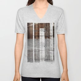 Black White Bars Unisex V-Neck