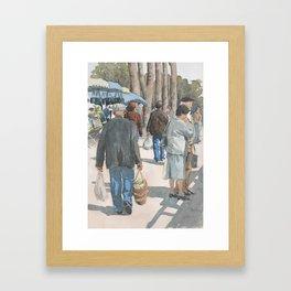 Au Marché de Piégut Framed Art Print