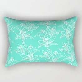Lily Love in Mint Rectangular Pillow