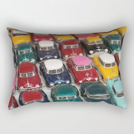Vintage Retro Design Illustration Cuba Cars mini Rectangular Pillow