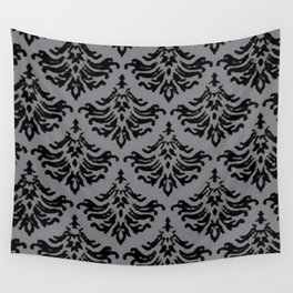 Vintage Damask Brocade Sharkskin Wall Tapestry