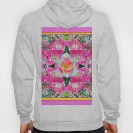 PINK & WHITE SPRING FLOWER GARDEN Hoody