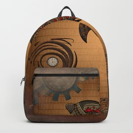 Steampunk, awesome steampunk dolphin Backpack