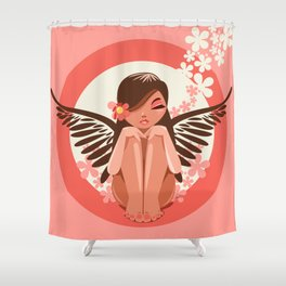 Flora Fairy Shower Curtain