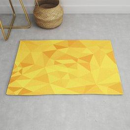Yellow Geometric Pattern Rug
