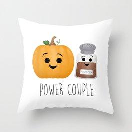 Pumpkin + Spice = Power Couple Throw Pillow