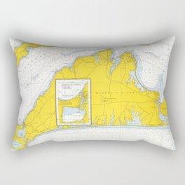 Vintage Map of Martha's Vineyard (1967) Rectangular Pillow