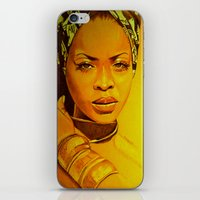 erykah badu iPhone & iPod Skins featuring Erykah badu by Dezz Manuel