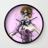 dj Wall Clocks featuring DJ by Joe carver