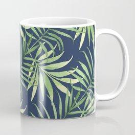 Tropical Branches on Dark Pattern 05 Coffee Mug