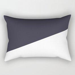 Urban Geometry Navy Blue + White Rectangular Pillow