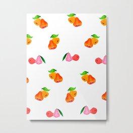 Jambu II (Wax Apple) - Singapore Tropical Fruits Series Metal Print