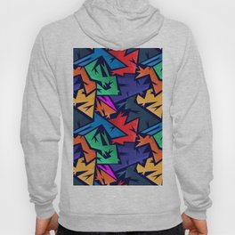 Abstract urban backdrop with curved geomtry seamless pattern and grunge spots in street styl Hoody