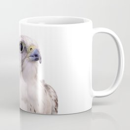 Up Close and Personal with a Stunning Saker Falcon Coffee Mug