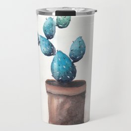Blue Cactus Travel Mug