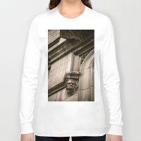 concrete Long Sleeve T-shirts featuring Concrete Head by Cwenar