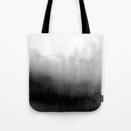 Modern Black and White Watercolor Gradient Tote Bag