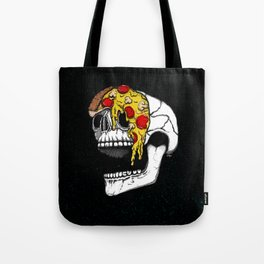 Pizza Face - colored Tote Bag