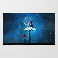 banksy Area & Throw Rugs featuring Tardis Stair banksy ballons Girl by neutrone