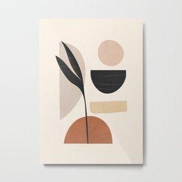 Minimal Abstrac Shapes 10 Metal Print
