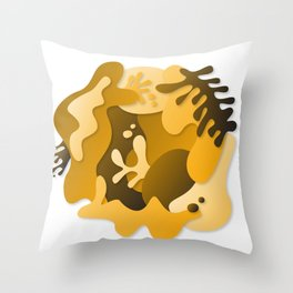 Yellow World Throw Pillow