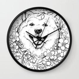 Color-Me Canine: Shiba inu Wall Clock