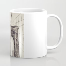 Brooklyn bridge, New York city, black & white photography, wall decoration, home decor, nyc fine art Coffee Mug