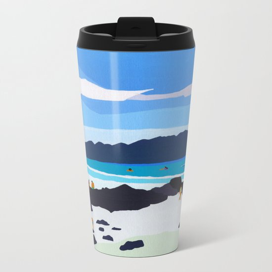 Rocky shore Metal Travel Mug