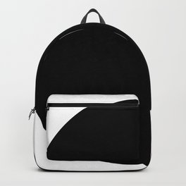 Black round circle dot — Modern minimal geometric art — Contemporary abstract minimalist design Backpack