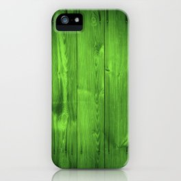 Green Grass Wood Planks iPhone Case