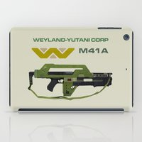 aliens iPad Cases featuring Aliens M41A by avoid peril