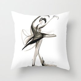 Dance Drawing Throw Pillow