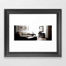 I'm Afraid to Come Back Home Framed Art Print
