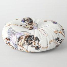 Pug Ballerina in Dog Ballet | Swan Lake  Floor Pillow