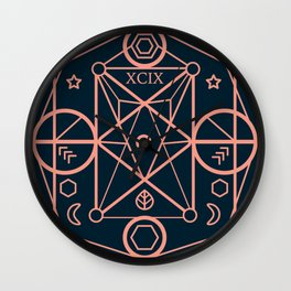 illustration of sacred geometry Wall Clock