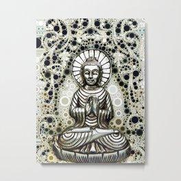 Silver Buddha Metal Print
