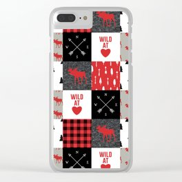 Wild At Heart Lumberjack Quilt Pattern Clear iPhone Case