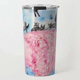 PINK BISON and BLACK CATS Travel Mug